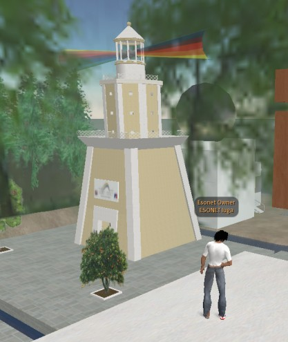 "The Esonet ""lighthouse"" in SL"